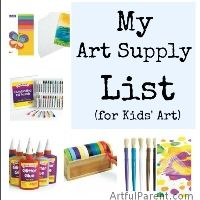 My Favorite Kids Art Supplies
