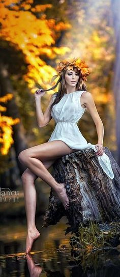 Photographic Print Portrait of Beautiful Girl in the Forest Girl with Fairy Look in Autumnal Shoot by iancucristi - Fairy photoshoot, Photography, Fantasy photography, Portrait, Portrait phot - Woods Photography, Fantasy Photography, Girl Photography, Fashion Photography, Photography Accessories, Photography Ideas, Fairy Tale Photography, Tabletop Photography, Boudoir Photography Poses