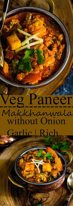Jagruti's Cooking Odyssey: Veg Paneer Makkhanwala without Onion and Garlic - Mixed vegetables and Indian Cottage Cheese in Creamy Tomato Gravy Jain Recipes, Paneer Recipes, Curry Recipes, Vegetable Recipes, Indian Food Recipes, Ethnic Recipes, Garlic Recipes, Soup Recipes, Vegetarian Main Dishes