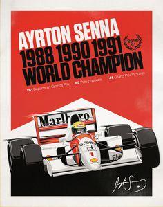 Ayrton Senna Marlboro Formula 1 World Champion 1988 1990 1991 Auto F1, San Marino Grand Prix, Aryton Senna, Gp F1, Formula 1 Car, Car Posters, F1 Racing, Drag Racing, Automotive Art