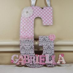 Custom hand-painted letters to display your family names initial ...