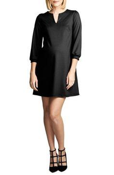 *New* Black Maternal America Shift Maternity Dress (Size X-Small) - Motherhood Closet - Maternity Consignment