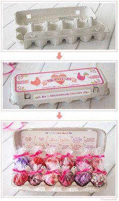 紙製のたまごパックでDIY♪見た目もかわいくラブリーに♡バレンタインで使えるラッピングアイデア☆
