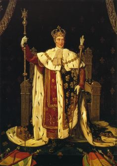 King Charles X, the last of the Bourbon kings of the ancient regime of France, though Louis Philippes was technically a Bourbon also, on his mothers side.
