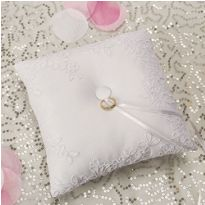 Modern Lace Ring Bearer Pillow $20 Party City