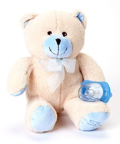 Blue Pacifier Bear Plush Toy | Daily deals for moms, babies and kids
