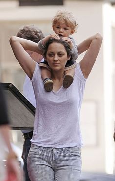 Marion Cotillard...so gorgeous. And her son? Adorable.