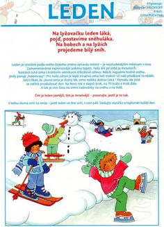 .ŘČ leden Winter Activities For Kids, Winter Crafts For Kids, Art For Kids, Aa School, School Clubs, Teaching Posts, Teaching Kids, Weather For Kids, Sudoku