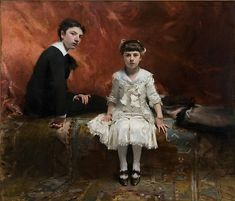 "John Singer Sargent (American, 1856–1925). Pailleron Children, 1880 Des Moines Art Center Permanent Collections; Purchased with funds from the Edith M. Usry Bequest, in memory of her parents Mr. and Mrs. George Franklin Usry, the Dr. and Mrs. Peder T. Madsen Fund, and the Anna K. Meredith Endowment Fund (1976.61) | This work is in our ""Sargent: Portraits of Artists and Friends,"" on view through October 4, 2015."