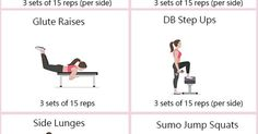 How to Get a Bigger Bum - Workout to Tone, Round and Enlarge Your Glutes | Butt workouts, How to get and Love the