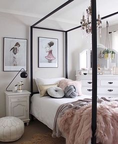 Because every girl loves a little luxe . How stunning is this room by…