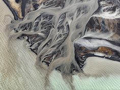 River Delta & Lake, Iceland---Hans Strand