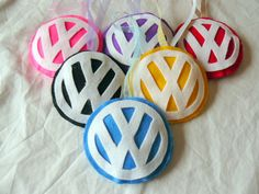 Handmade Felt Volkswagen VW Logo Hanging Decoration