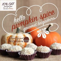 Traditional Fall Flavor is now on a Brazilian Traditional - Brigadeiro! We introduce to you the Pumpkin Spice Gourmet Brigadeiro #Brigadeiro #pumpkin #spice #HelloFall #Fall #chocolate