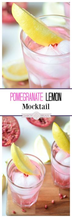Looking for a refreshing summer drink recipe to serve at your next barbecue? Mix up this Pomegranate Lemon Mocktail for a delicious non-alcoholic drink. It's easy to turn this into a tropical cocktail for adults only too.