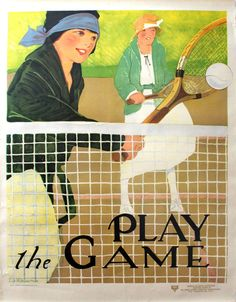 Lucille Patterson March - Original Vintage C.1920s Health And Fitness Tennis Poster - Play The Game - YWCA | 1stdibs.com