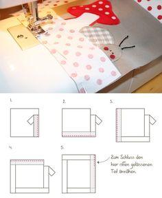 DIY Anleitung: Knistertuch für Babys nähen // diy, sewing instruction: How to sew a cloth activity book via DaWanda.com