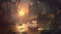 Steve Box and John Woolley explain how the new series will combine hand-drawn environments with characters to create a unique style for the new series. Moomin Valley, Tove Jansson, Animation Reference, Environment Design, Cute Art, Fantasy Art, Illustration Art, Illustrations, Tv Series