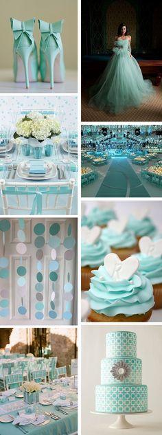 Boda de colores - azul Tiffany
