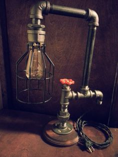 Industrial Lamp Edison Light Desk Lamp Steam by DesertandIron, $140.00