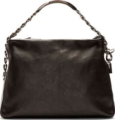 Maison Martin Margiela - Black Leather Chain Detail Shoulder Bag