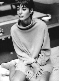 """Interprete principale Christy"" Vogue Italia (1990) Christy Turlington by Patrick Demarchelier"