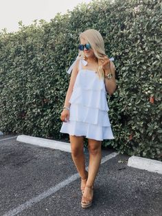 28 Great Summer Style Ideas With Set Clothes Summer Fashion Outfits, Summer Dresses For Women, Dress Summer, Summer Fashions, Outfit Summer, Dress Fashion, Instagram Outfits, Little White Dresses, Cute Dresses