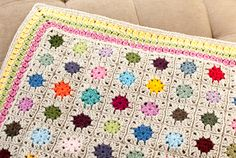 cluster burst afghan crochet border pattern (OMG - This is the best!!!  Have to make & can use pattern to adjust to make a throw pillow, too!!!)
