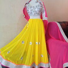 Designer #Ghagra Choli ...like us : https://www.facebook.com/pages/ChicStylee/212618222108344