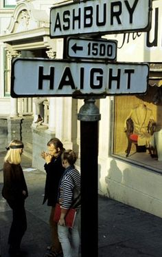 """Haight Ashbury, as I grew up in the """"hippie era"""",  I always wanted to see this, bucket list thing, and about 2 years ago I did!!  Saw it with my sister in law Janet, it was AWESOME!!!!!"""