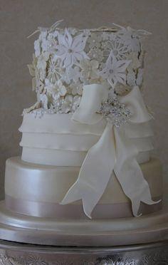 3D Lace Wedding Cake