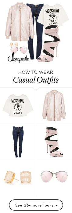 """Idealistic Casual"" by margueritela on Polyvore featuring Frame Denim, Kate Spade, Acne Studios, Moschino, Giuseppe Zanotti and Miu Miu"