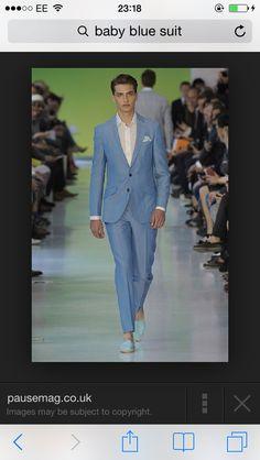 Not your plain boring suit- pastels - meteosexual Baby Blue Suit, Pastels, Dream Wedding, Suits, Formal, Image, Style, Fashion, Preppy