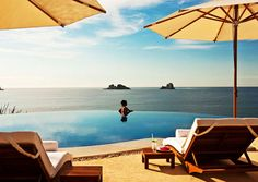 """Readers' Rating: 90.694Location: 30 minutes north of Ixtapa/Zihuatanejo AirportWhat You Love: A """"very private and romantic resort where the buildings cascade down a hill above the Pacific."""" All suites have private plunge pools and terraces—""""it's like a fairy tale."""" The Mexican design mixes clay, stone, marble, and polished hardwoods with pastels and furnishings from artisans in the state of Guerrero."""