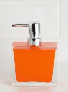 rectangle resin soap dispenser orange soap dispensers co ordinated accessories bathroom accessories