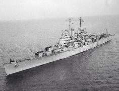 USS Santa Fe (CL-60) in December, 1942.