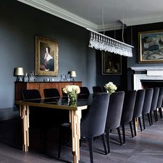 Grey Country Dining Room