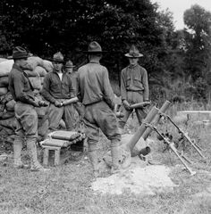 World War I - Mortar Training