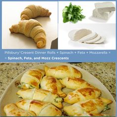 Pillsbury®Cresent Rolls + Spinach + Feta + Mozzarella =  = Spinach, Feta, and Mozz Crescents   15 Delicious Things You Can Stuff In A CrescentRoll