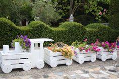 diy τρενάκι γλάστρα κήπου10