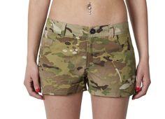 Women's camouflage mini shorts Multicam