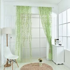 These sheer window drapes that are perfect for open windows and summer breezes. | 24 Unexpected Ways To Add Greenery To Your Home