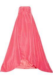 Oscar de la RentaPleated silk-faille gown