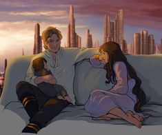 "fennethianell: "" "" ""Never imagined this,"" Han had murmured, sitting up in their bed late at night, Ben's tiny head resting in the crook of his father's arm. ""Having a kid. Even wanting a kid. But now he's here, and—"" ""And you're a dad."" Leia had..."