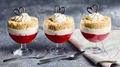 Rhubarb is abundant in the springtime in Alberta. Try these parfaits layered with Greek yogurt and graham cracker crumbs for a great make-ahead dessert. Make Ahead Desserts, Baked Strawberries, Graham Cracker Crumbs, Strawberry Cheesecake, Salted Butter, Food Print, Panna Cotta, Food And Drink, Cooking Recipes