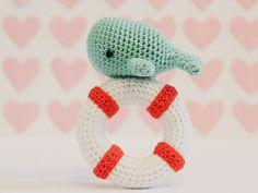 DIY-Anleitung: Amigurumi-Wal mit Rettungsring häkeln / crocheting tutorial for amigurumi whale, crafting via DaWanda.com