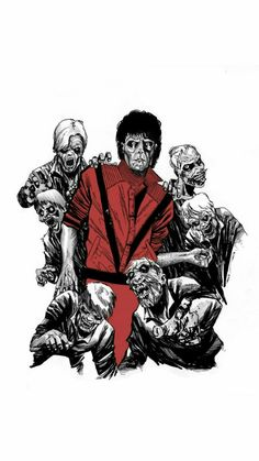 """Michael Jackson's Thriller by Amancay Nahuelpan For Music"""" Week at Ashcan All-Stars Michael Jackson Cartoon, Michael Jackson Art, Michael Jackson Thriller, Jackson 5, Mj Music, Music Week, Music Artwork, Fan Art, Band Posters"""