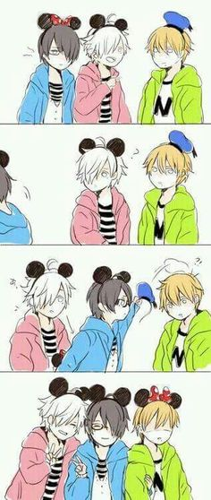 The triplets♡ kawaii~~ Anime/game : brother conflict