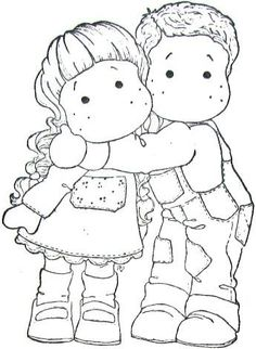 Trendy how to draw people hugging pictures ideas Colouring Pics, Coloring Book Pages, Coloring Sheets, Magnolia Pictures, Art Folder, Marker Art, Copics, Watercolor Cards, Drawing For Kids