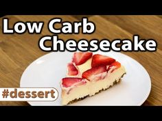 CHEESECAKE LOW CARB COM GELÉIA DE MORANGO | VIVIAN HEGMANN - YouTube
